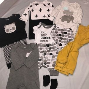 Baby boy clothes bundle-black and white